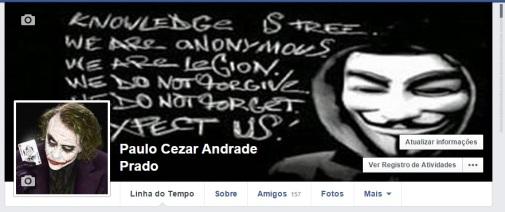 facebook paulinho invadido - 19-04-2015